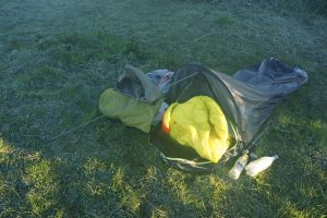 Bivy bag in frost
